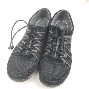 Dansko Honor Black Suede Sneakers